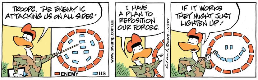 Swamp Cartoon - Army Sergeant Reposition ComicMay 9, 2018