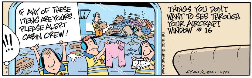 Swamp Cartoon - Passenger Luggage ComicMay 25, 2018
