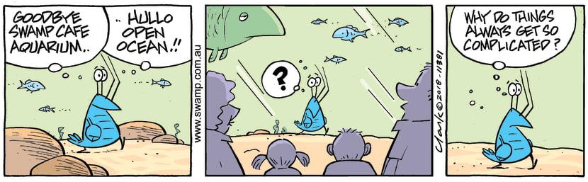 Swamp Cartoon - Bob Crayfish Complicated ComicJune 20, 2018