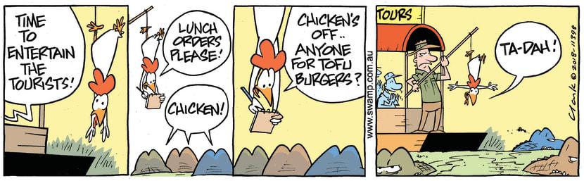 Swamp Cartoon - Swamp Chicken Tofu ComicJuly 10, 2018
