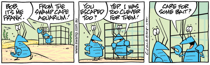 Swamp Cartoon - Bob Crayfish Bait ComicJuly 13, 2018