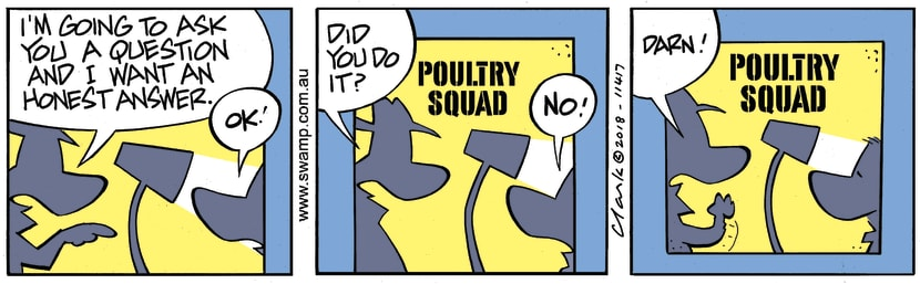 Swamp Cartoon - Poultry Squad Answer ComicAugust 1, 2018