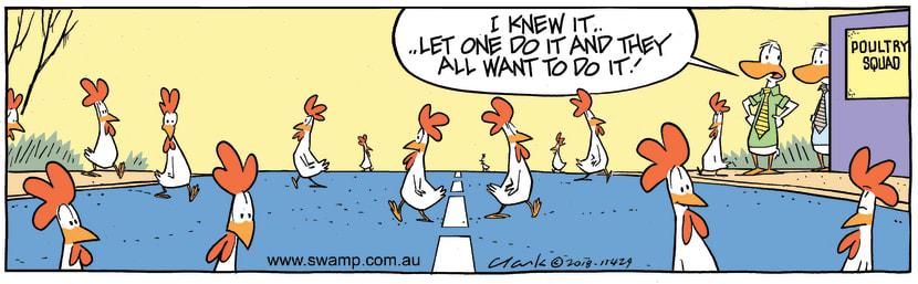 Swamp Cartoon - Chickens Crossing Road ComicAugust 15, 2018