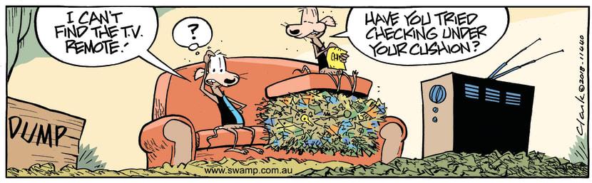 Swamp Cartoon - Chives Rat Lost Remote ComicAugust 28, 2018