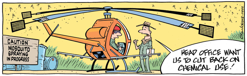 Swamp Cartoon - Mosquito Chemical Use ComicSeptember 1, 2018