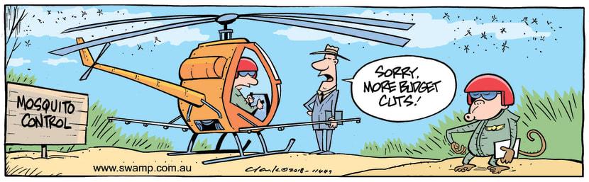 Swamp Cartoon - Mosquito Control Budget CutsSeptember 7, 2018