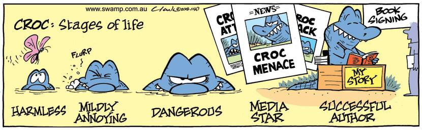 Swamp Cartoon - Snapper Croc Life Stages ComicSeptember 21, 2018