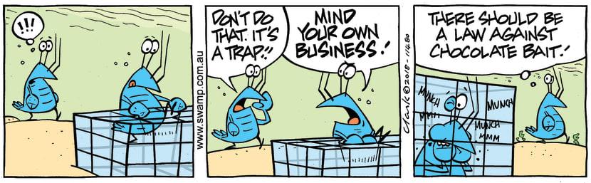 Swamp Cartoon - Bob Crayfish Chocolate Bait ComicOctober 13, 2018