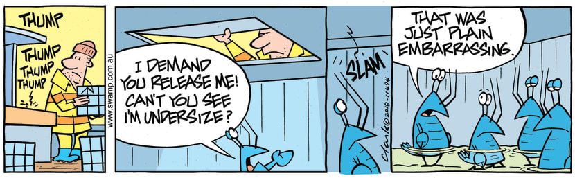 Swamp Cartoon - Bob Crayfish Under Size ComicOctober 30, 2018