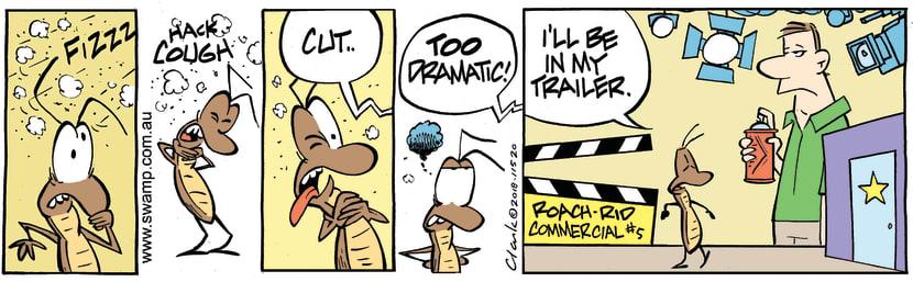 Swamp Cartoon - Swamp Cockroach Drama ComicNovember 29, 2018