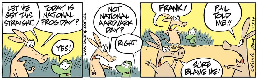 Swamp Cartoon - National Aardvark Day Gone WrongDecember 4, 2018