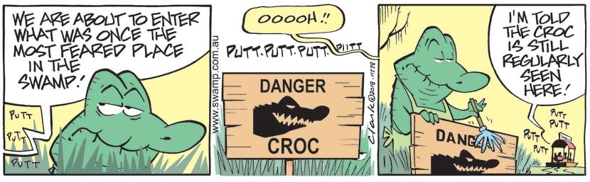 Swamp Cartoon - Old Man Croc Fearsome ComicDecember 20, 2018