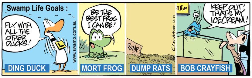 Swamp Cartoon - Swamp Life Goals ComicDecember 21, 2018