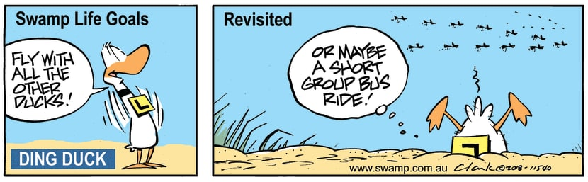 Swamp Cartoon - Swamp Life Goals Revisited ComicDecember 24, 2018