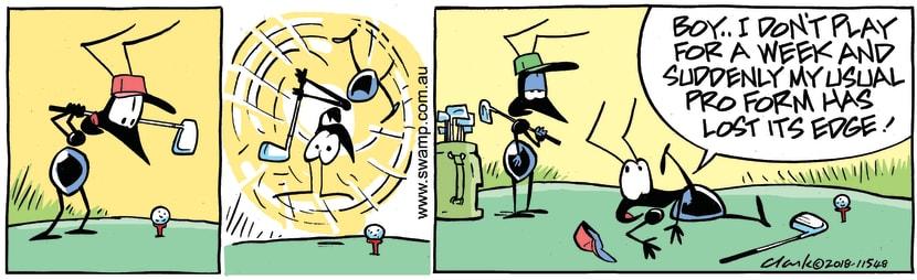 Swamp Cartoon - Swamp Ant Golf Pro ComicJanuary 3, 2019