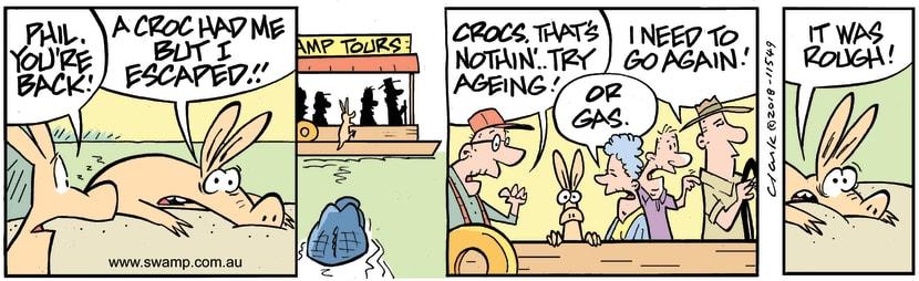 Swamp Cartoon - Phil Aardvark Escape ComicJanuary 4, 2019