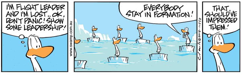 Swamp Cartoon - Swamp Ducks Leadership ComicJanuary 15, 2019