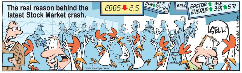Swamp Cartoon - Chickens Stock Market CrashFebruary 20, 2019