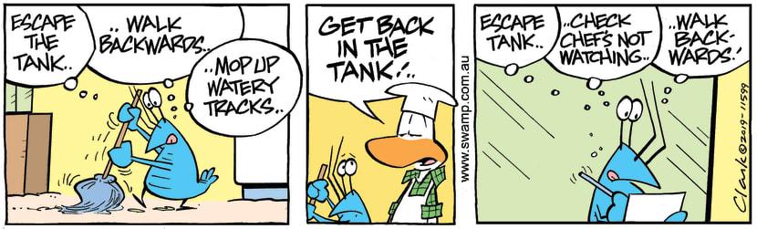 Swamp Cartoon - Bob Crayfish Tank ComicMarch 4, 2019