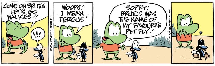 Swamp Cartoon - Brutus Walkies ComicMarch 9, 2019