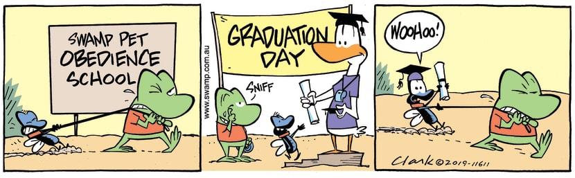 Swamp Cartoon - Pet Obedience Graduation ComicMarch 18, 2019