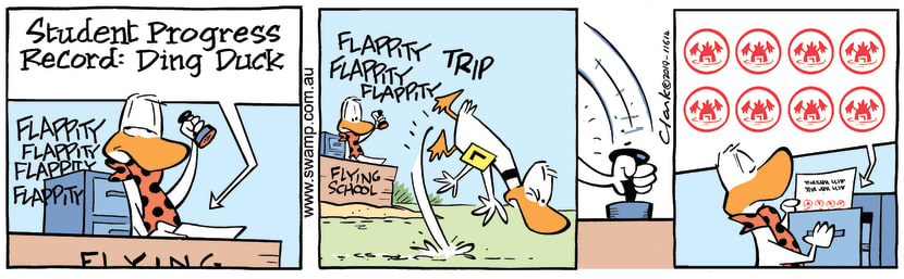 Swamp Cartoon - Ding Duck Record ComicMarch 21, 2019
