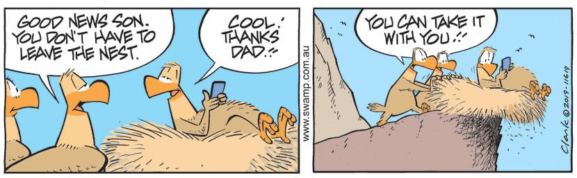 Swamp Cartoon - Baby Eagle Nest ComicMarch 27, 2019