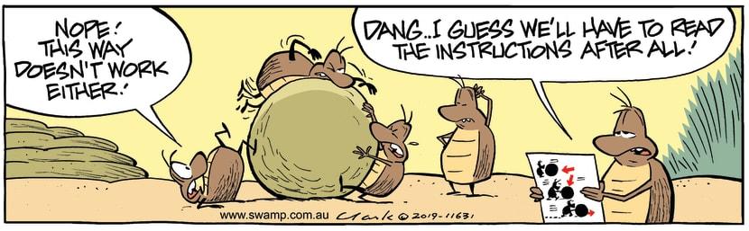 Swamp Cartoon - Dung Beetle Instructions ComicApril 10, 2019