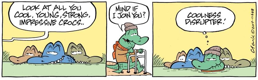 Swamp Cartoon - Old Man Croc Disruptor comicApril 30, 2019