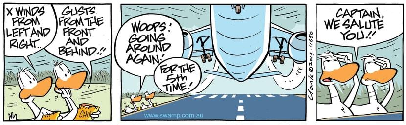 Swamp Cartoon - Swamp Ducks Salute ComicMay 2, 2019