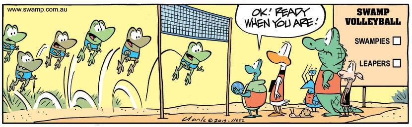Swamp Cartoon - Swamp Volleyball ComicMay 4, 2019