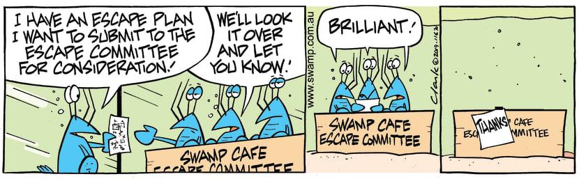 Swamp Cartoon - Bob Crayfish Escape PlanMay 24, 2019
