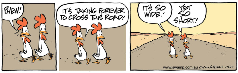Swamp Cartoon - Chickens Crossing Short RoadMay 25, 2019