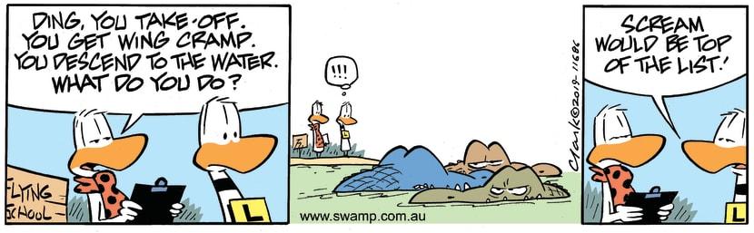 Swamp Cartoon - Ding Duck ScreamJune 12, 2019