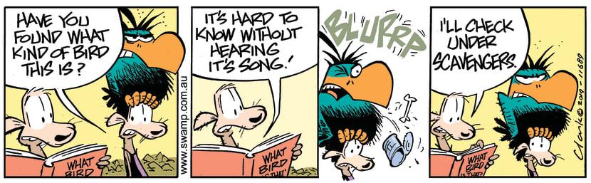 Swamp Cartoon - Bludgerigar ScavengerJune 15, 2019