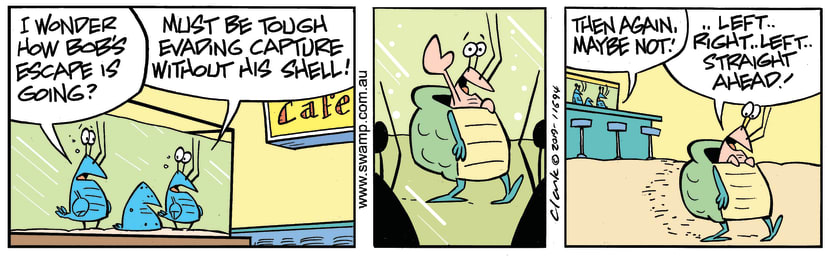 Swamp Cartoon - Bob Crayfish ShellJune 21, 2019