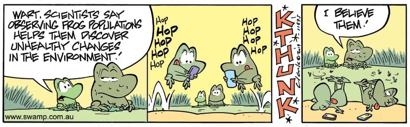 Swamp Cartoon - Frog PopulationsJune 22, 2019