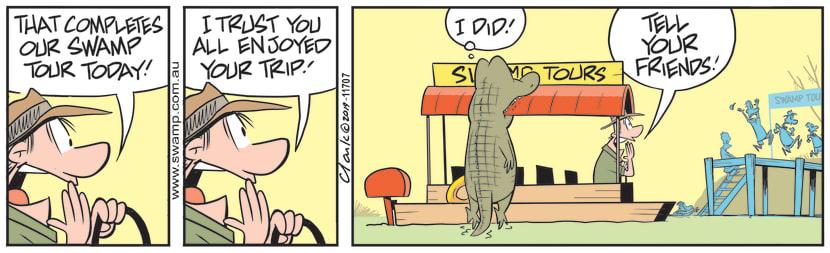 Swamp Cartoon - Nibbles Croc FriendsJuly 6, 2019