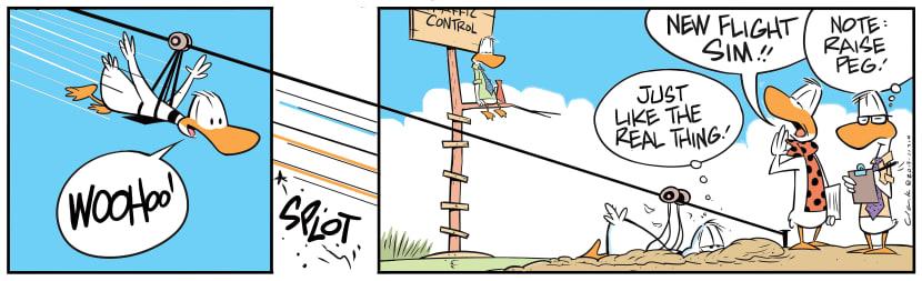 Swamp Cartoon - Ding Duck Flight SimJuly 10, 2019