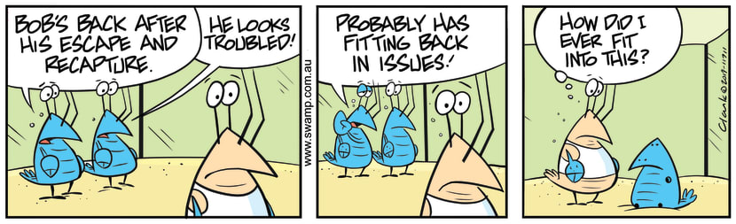 Swamp Cartoon - Bob Crayfish Fitting IssuesJuly 11, 2019