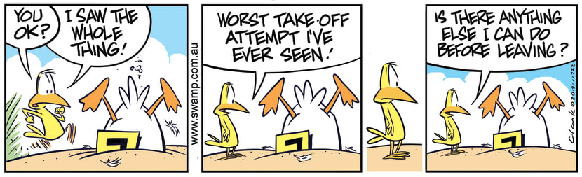 Swamp Cartoon - Ding Duck Worst Take-offJuly 24, 2019