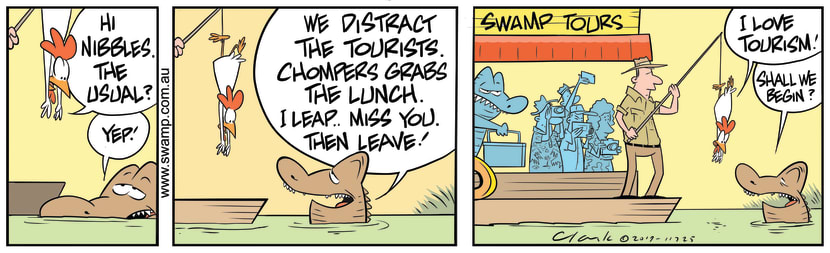 Swamp Cartoon - Chompers DistractionJuly 30, 2019