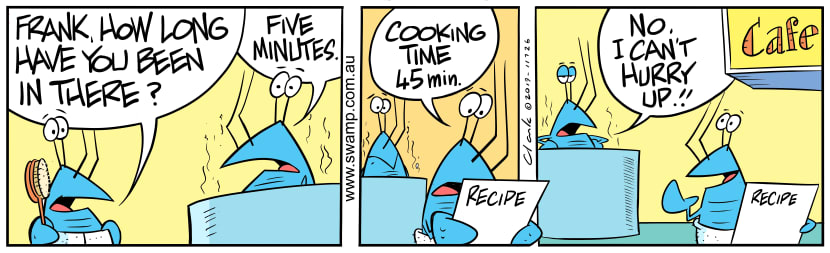 Swamp Cartoon - Bob Crayfish Cooking TimeJuly 27, 2019
