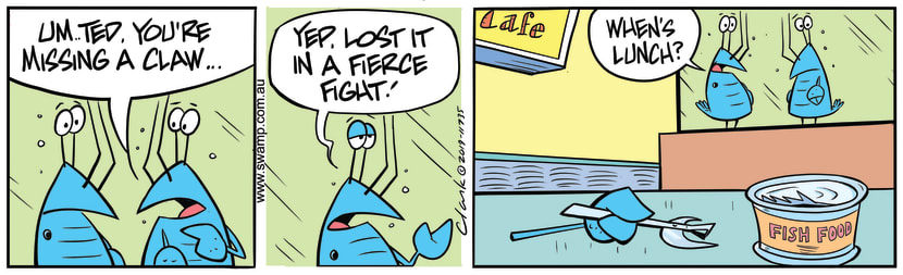 Swamp Cartoon - Crayfish Fierce FightAugust 8, 2019