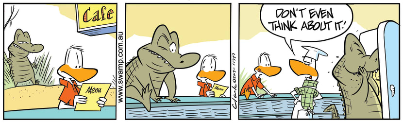 Swamp Cartoon - Swamp Chef WarningAugust 10, 2019