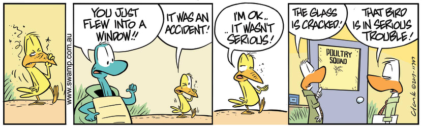 Swamp Cartoon - Bird in Serious TroubleAugust 22, 2019
