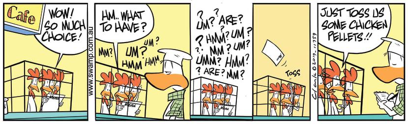 Swamp Cartoon - Chickens Lunch OptionsSeptember 5, 2019