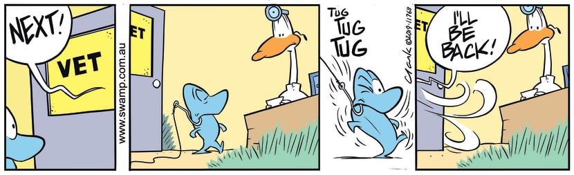 Swamp Cartoon - Fish Suddenly Called AwaySeptember 16, 2019