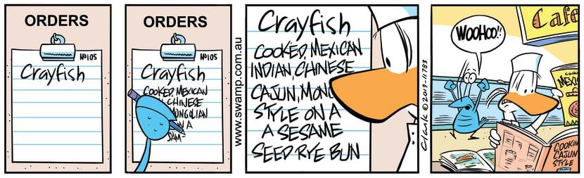 Swamp Cartoon - Bob Crayfish Tricks ApprenticeOctober 3, 2019
