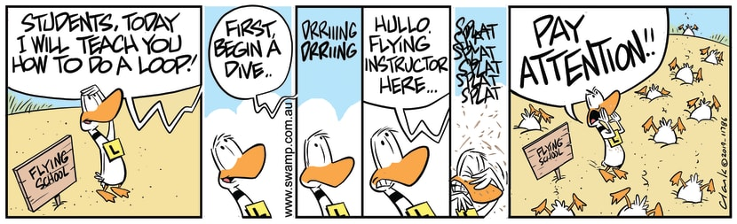 Swamp Cartoon - Ding Duck Pay AttentionOctober 7, 2019